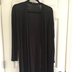 Black medium duster cardigan